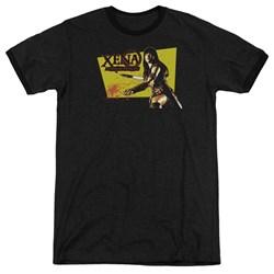 Xena - Mens Cut Up Ringer T-Shirt