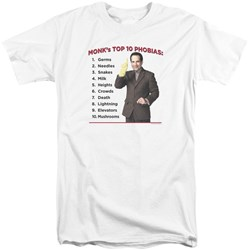 Monk - Mens Top 10 Phobias Tall T-Shirt