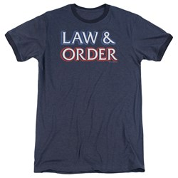 Law And Order - Mens Logo Ringer T-Shirt