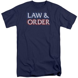 Law And Order - Mens Logo Tall T-Shirt