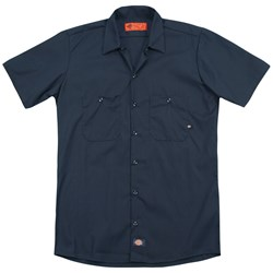 Law And Order - Mens Logo (Back Print) Work Shirt