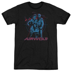 Airwolf - Mens Graphic Ringer T-Shirt