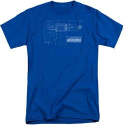 Warehouse 13 - Mens Tesla Gun Tall T-Shirt