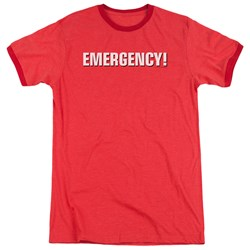 Emergency - Mens Logo Ringer T-Shirt