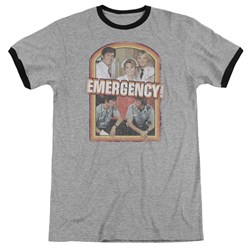 Emergency - Mens Retro Cast Ringer T-Shirt