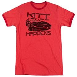 Knight Rider - Mens Kitt Happens Ringer T-Shirt