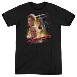Airwolf - Mens Airwolf Ringer T-Shirt