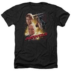 Airwolf - Mens Airwolf Heather T-Shirt