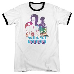 Miami Vice - Mens Crockett And Tubbs Ringer T-Shirt
