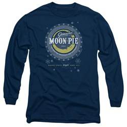 Moon Pie - Mens Snowing Moon Pies Long Sleeve T-Shirt