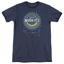 Moon Pie - Mens Snowing Moon Pies Ringer T-Shirt