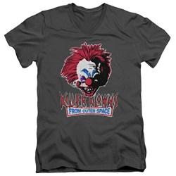 Killer Klowns From Outer Space - Mens Rough Clown V-Neck T-Shirt