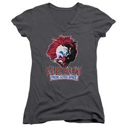 Killer Klowns From Outer Space - Juniors Rough Clown V-Neck T-Shirt