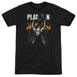 Platoon - Mens Graphic Ringer T-Shirt