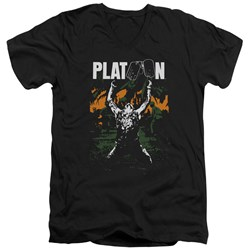 Platoon - Mens Graphic V-Neck T-Shirt