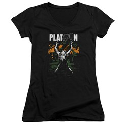 Platoon - Juniors Graphic V-Neck T-Shirt