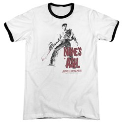 Army Of Darkness - Mens Names Ash Ringer T-Shirt