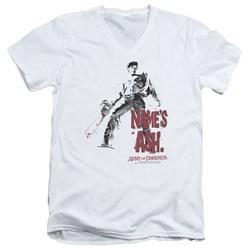 Army Of Darkness - Mens Names Ash V-Neck T-Shirt