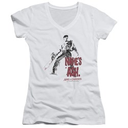 Army Of Darkness - Juniors Names Ash V-Neck T-Shirt