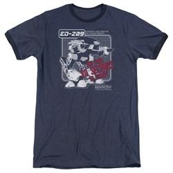 Robocop - Mens Ed 209 Ringer T-Shirt