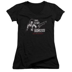 Army Of Darkness - Juniors Boomstick V-Neck T-Shirt