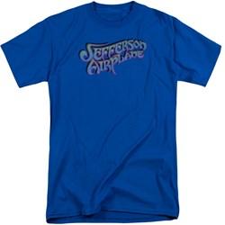 Jefferson Airplane - Mens Gradient Logo Tall T-Shirt