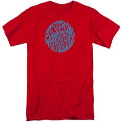 Jeffersn Airplane - Mens Round Logo Tall T-Shirt