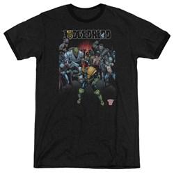 Judge Dredd - Mens Behind You Ringer T-Shirt