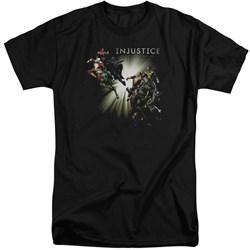 Injustice Gods Among Us - Mens Good Vs Evils Tall T-Shirt