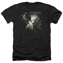 Injustice Gods Among Us - Mens Good Vs Evils Heather T-Shirt