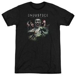 Injustice Gods Among Us - Mens Key Art Ringer T-Shirt