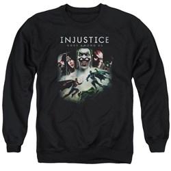 Injustice Gods Among Us - Mens Key Art Sweater