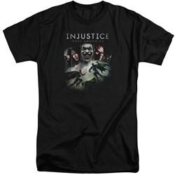 Injustice Gods Among Us - Mens Key Art Tall T-Shirt