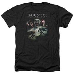 Injustice Gods Among Us - Mens Key Art Heather T-Shirt