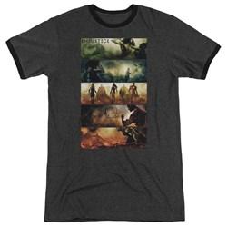 Injustice Gods Among Us - Mens Panels Ringer T-Shirt