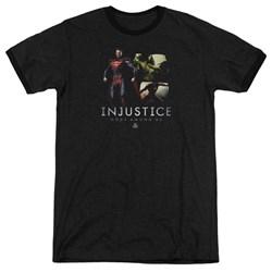 Injustice Gods Among Us - Mens Supermans Revenge Ringer T-Shirt