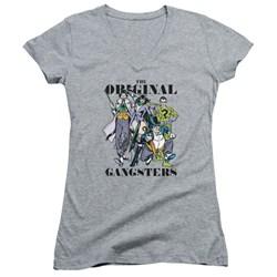 DC Comics - Juniors Original Gangsters V-Neck T-Shirt