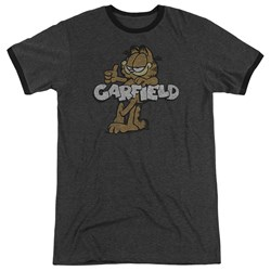 Garfield - Mens Retro Garf Ringer T-Shirt