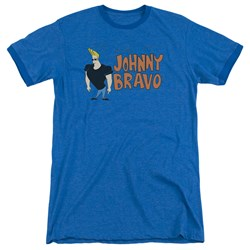 Johnny Bravo - Mens Johnny Logo Ringer T-Shirt