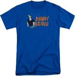Johnny Bravo - Mens Johnny Logo Tall T-Shirt