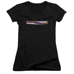 Chevrolet - Juniors 56 Bel Air Emblem V-Neck T-Shirt
