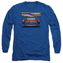 Chevrolet - Mens 1957 Bel Air Grille Long Sleeve T-Shirt