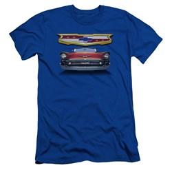 Chevrolet - Mens 1957 Bel Air Grille Premium Slim Fit T-Shirt