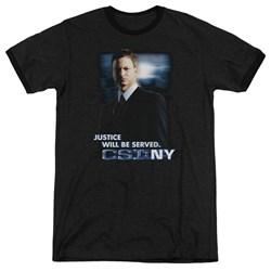 Csi:Ny - Mens Justice Served Ringer T-Shirt