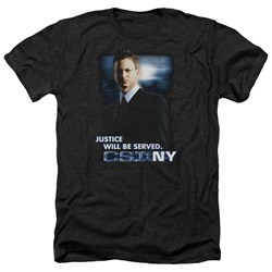 Csi:Ny - Mens Justice Served Heather T-Shirt