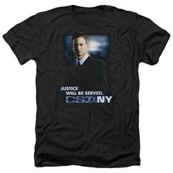 Csi:Ny - Mens Justice Served Heather T-Shirt