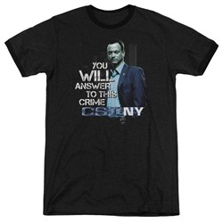 Csi Ny - Mens You Will Answer Ringer T-Shirt