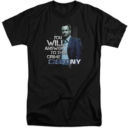 Csi Ny - Mens You Will Answer Tall T-Shirt