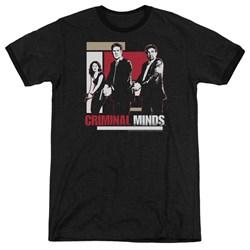 Criminal Minds - Mens Guns Drawn Ringer T-Shirt
