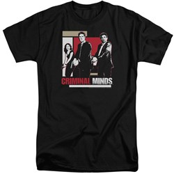 Criminal Minds - Mens Guns Drawn Tall T-Shirt